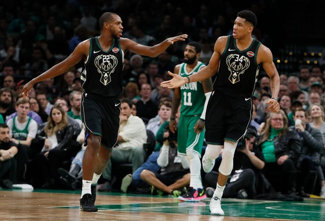 The Bucks will need big series from Khris Middleton and Giannis Antetokounmpo to take down Kyrie Irving and the Celtics in Round 2 of the playoffs.