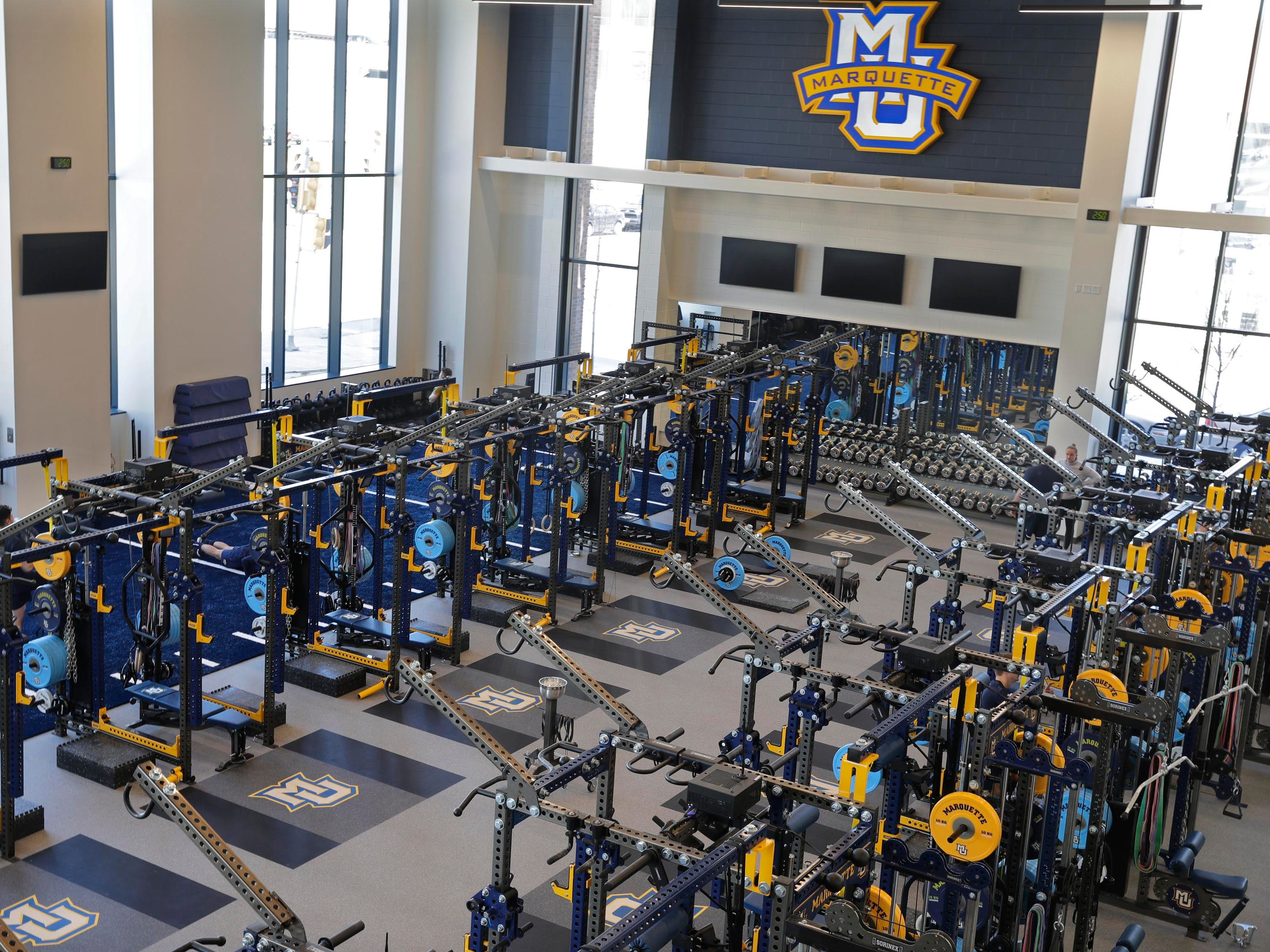 The Athletic and Human Performance Research Center's strength and conditioning area.