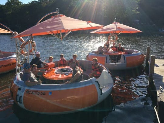 Donut boats seat up to 10.