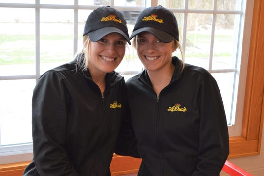Anna and Andrea Kinsey, and their sister Alicia, started working at LeDuc's in high school. Now, their dad Steve owns it.