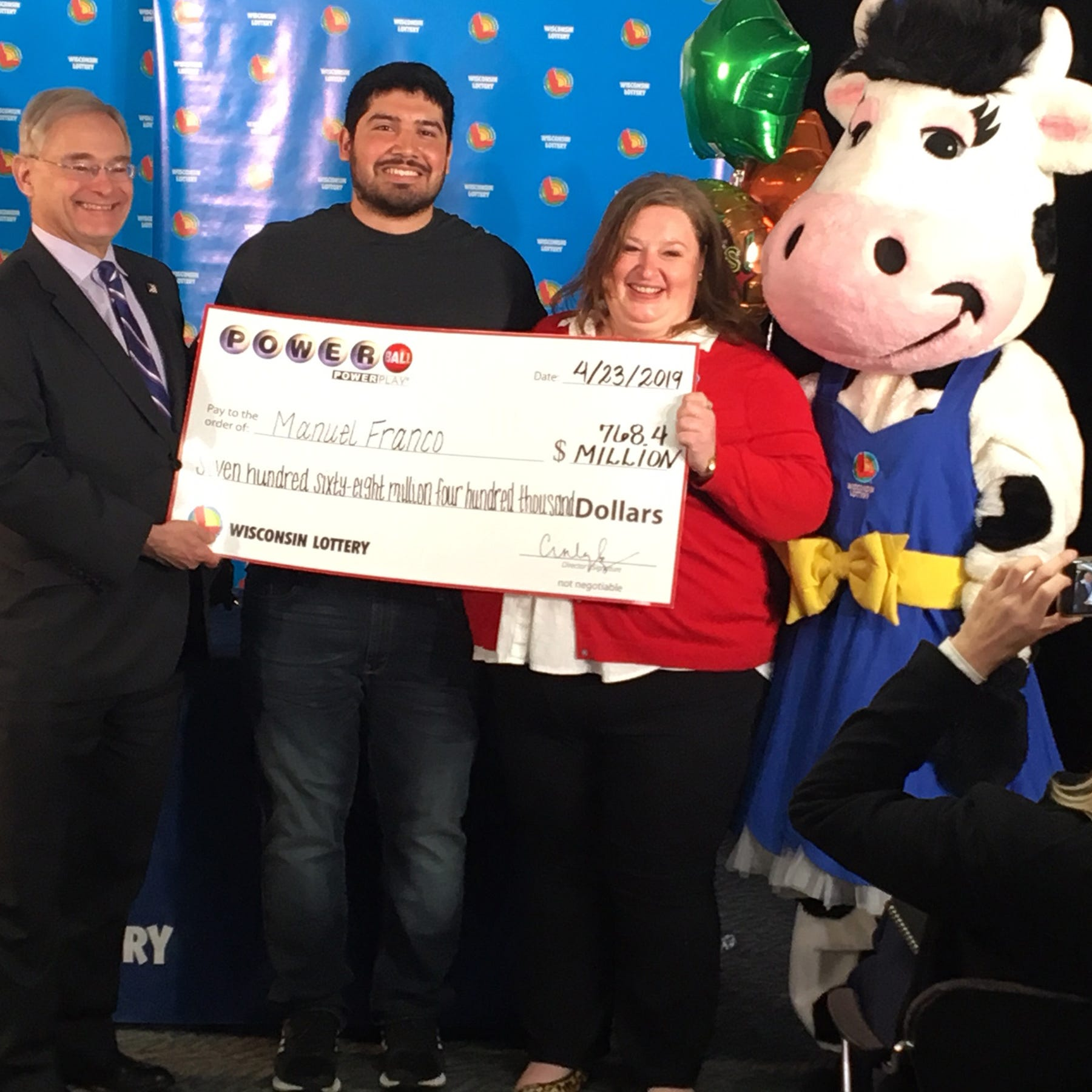 West Allis man wins $768 million Powerball jackpot had a 'lucky feeling' after he purchased ticket