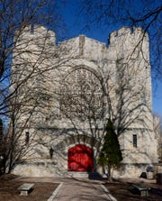 The Noble Victory Memorial Chapel on the grounds of the St. John's Northwestern Military Academy was built between 1920 and 1927 in the English Gothic architecture style.