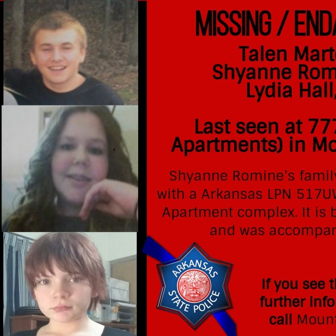 Three children missing from apartment complex