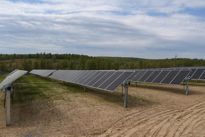 The North Arkansas Electric Cooperative's new solar array will provide enough energy to power between 125 and 150 homes annually.