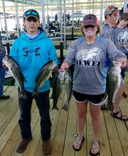Mountain Home's Lance Lee and Courtney Barron won the Twin Lakes High School Bass Tournament on Saturday on Norfork Lake.