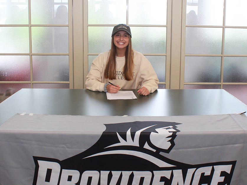 Morristown-Beard senior Nicole Borowiec signed a National Letter of Intent with Providence track and field on April 22.