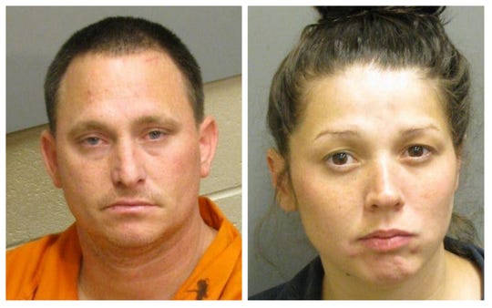 Brad Edgar Wyatt and Kayla Ashley McClellan were charged with trafficking meth and second-degree assault.
