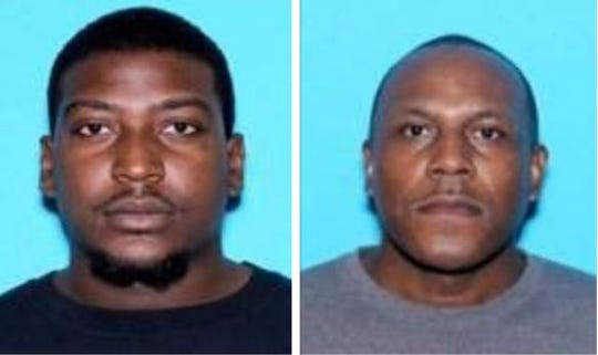 Left: Staton correctional officer Darryl Jerome Bradley, 25 of Millbrook, was charged with promoting prison contraband and unlawful possession of marijuana. Right: Fountain Correctional Facility officer Wiggins Washington, 50, was charged with conspiracy to traffic methamphetamines.  Washington also faces additional federal charges for being in possession of a firearm at the time of his arrest.