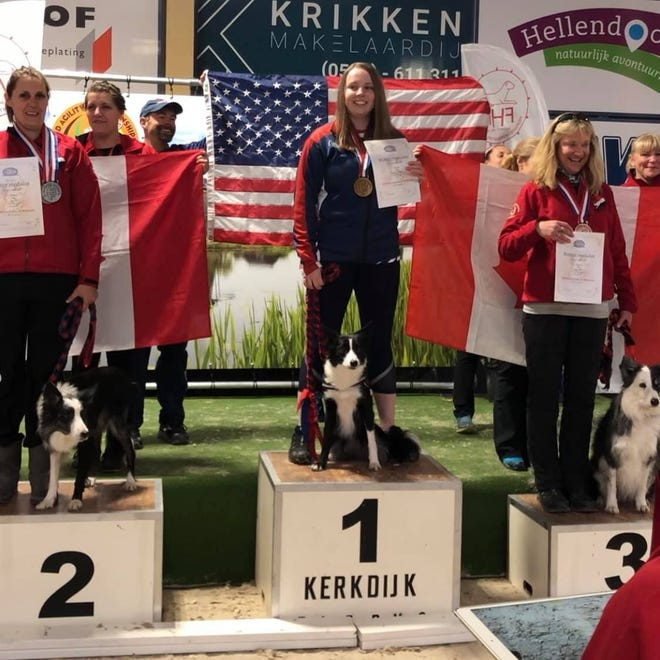 Dog agility trainer Tawni Millet of Christiana and her border collie Little Sparkle earned a gold medal at the 2019 World Agility Championships in Hellendoorn, the Netherlands.