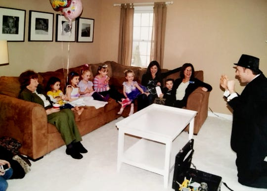 Andrew Zimmerle taught himself enough magic to entertain the young guests at his daughter's fourth birthday party.