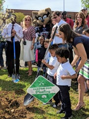 The trees were planted at Hull Jackson Montessori and John Early Museum Magnet Prepratory as part of an NFL program.