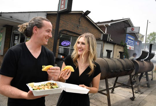 Cheap dates like going out to a taco stand is one way Lexi Barnett and George Livingston save money. The couple finds all sorts of ways to stay frugal in their day-to-day lives in order to save for big expenses like travel overseas.