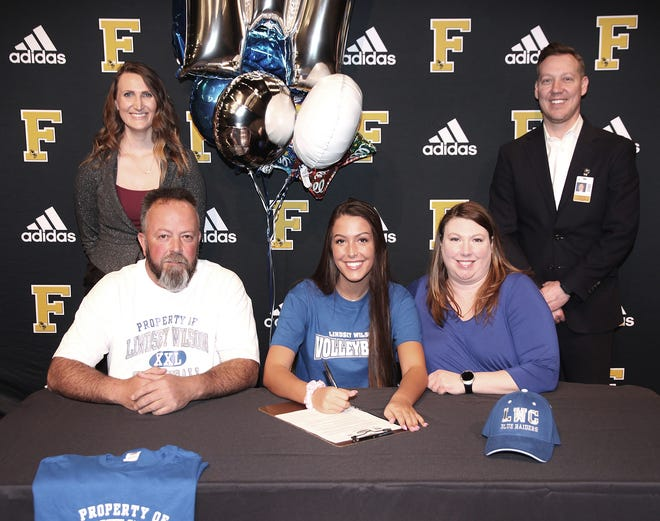 Dani Tidwell signed to play volleyball with Lindsey Wilson College on April 4, 2019.