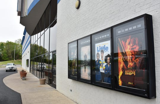 """The Roxy Movie Theater in Dickson is showing """"Hellboy,"""" though the sign out front shows a slightly different title: """"Heckboy."""""""