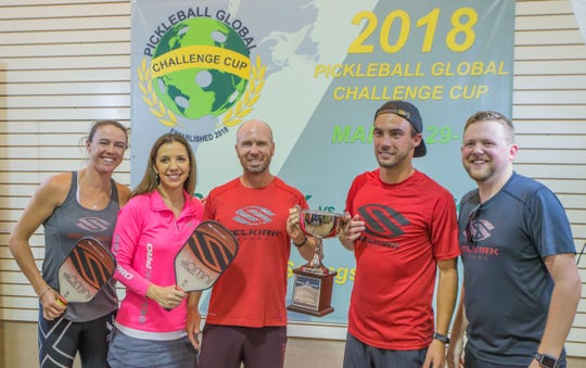 Team Selkirk, representing the paddle manufacturer, won the Pickleball Global Challenge Cup in 2018. The Cup returns to the indoor courts at Tennis & Pickleball US in Bonita Springs from Wednesday through Friday, bringing 25 of the highest-ranked players in the world.