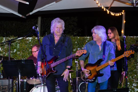 Rock legends John Lodge of the Moody Blues (left) and Cliff Williams of AC/DC, recently held a jam session at the Kalea Bay clubhouse.