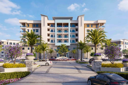 The three buildings in Phase 1 at Moorings Park Grande Lake are planned for a Spring 2020 completion.