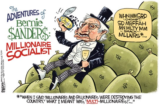 Bernie Sanders Millionaire Socialist