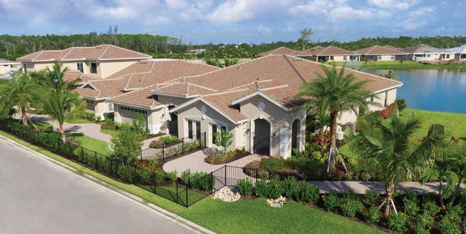 The custom estate villas at Zuckerman Homes' Venetian Pointe community range in price from $300,000 to the $500s.
