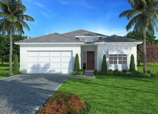 An artist's conception of the Maravilla, the first home sold at Sapphire Cove.