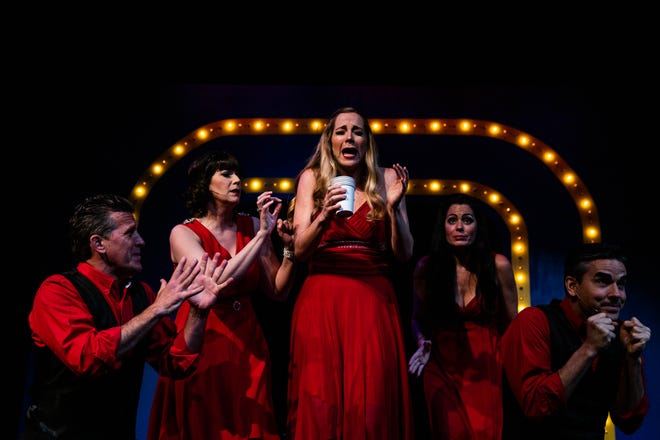 The cast performs the musical review of Kander and Ebb songs from Cabaret, Chicago and other musicals at G&L Theatre in Naples on Monday, April 22, 2019.