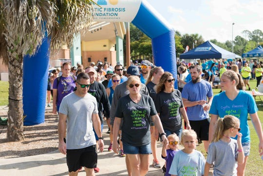 The Cystic Fibrosis Foundation Florida, Gulf Coast Chapter held the Naples/Fort Myers Great Strides Walk on April 13, at Estero Community Park.