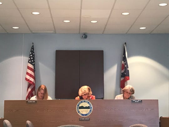 Two video cameras appeared taped over during a Buckeye Lake Village Council meeting on Monday, April 22, 2019. The council recently voted to remove the cameras from council chambers.