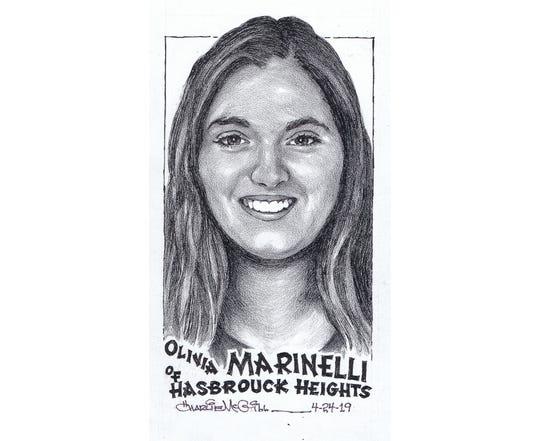 Olivia Marinelli, Hasbrouck Heights softball