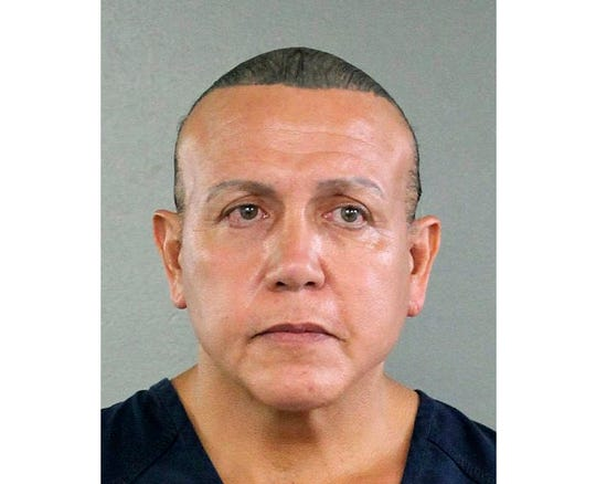 Cesar Sayoc, who mailed crudely made pipe bombs to prominent critics of President Donald Trump, said he abused steroids for over 40 years, an issue his lawyers say they'll cite at sentencing. Sayoc made the assertion in lengthy and rambling letters to a federal judge that were posted in his court case file, Tuesday, April 23, 2019.