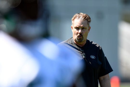 The New York Jets new defensive coordinator Gregg Williams on the field during practice on Tuesday, April 23, 2019, in Florham Park.
