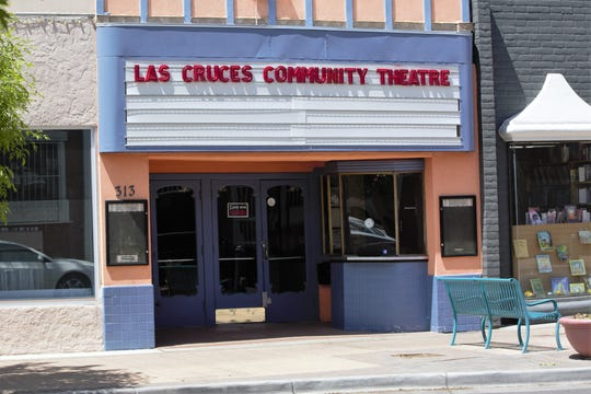"A blank marquee over the entrance to the Las Cruces Community Theatre following the cancellation of its production of ""Young Frankenstein,"" a week before it was to open. Tuesday, April 23, 2019."