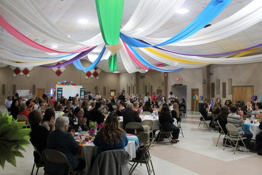 The near full house at the Sgt. Willie Estrada Civic Center Thursday, April 18 at Thrive in Southern New Mexico's annual awards luncheon.