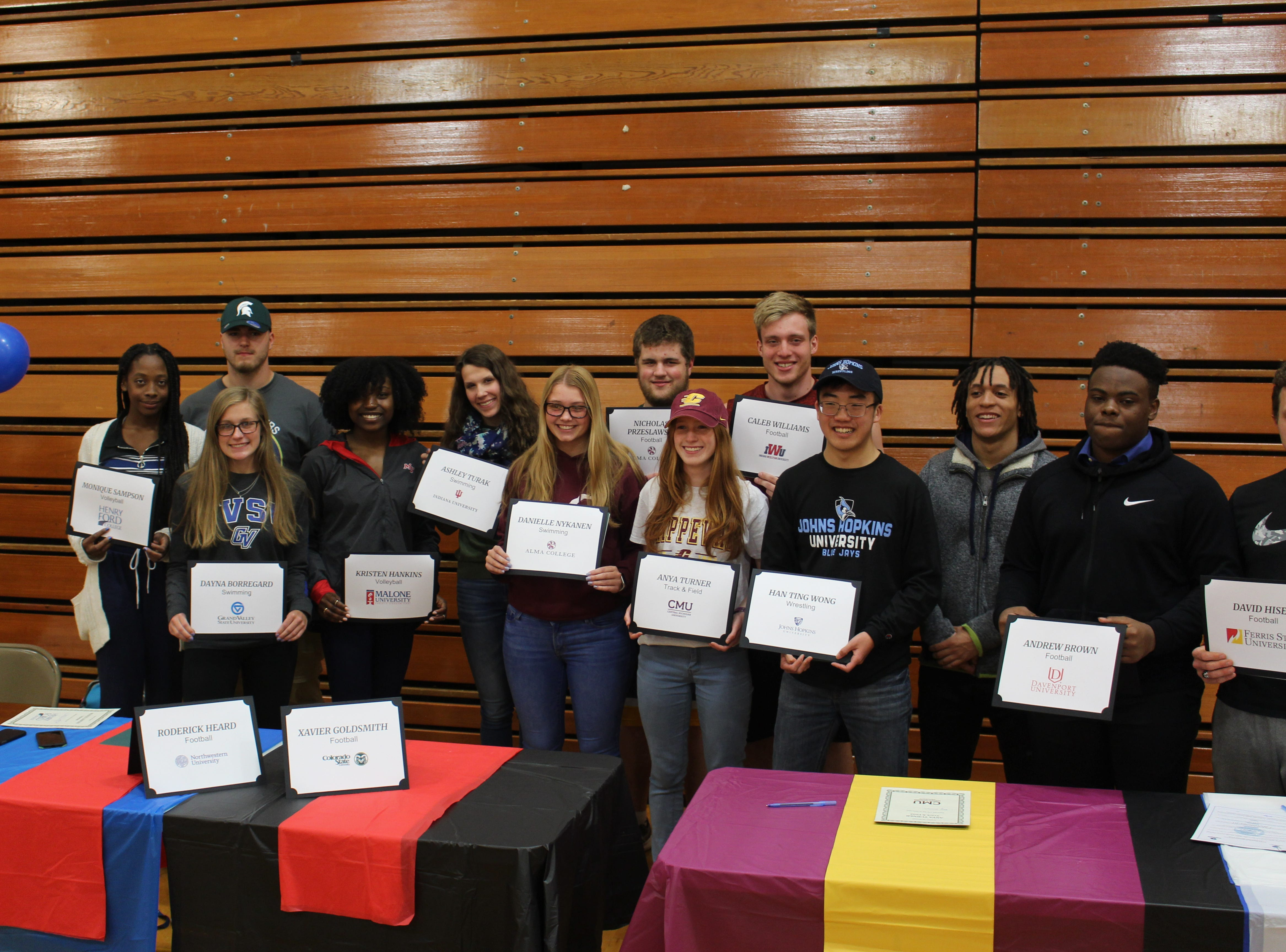 Farmington Hills Harrison has 15 athletes sign with colleges