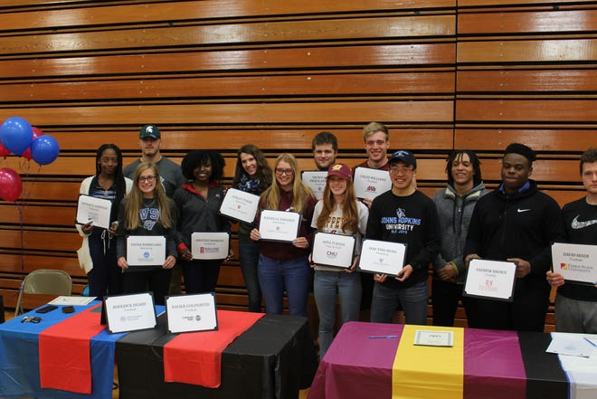 Harrison High School is sending a number of athletes to the next level.