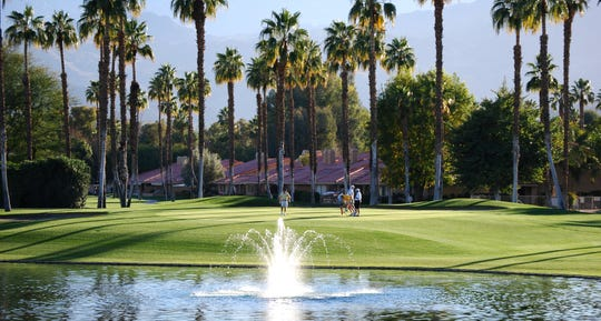 The 13th green at Chaparral Country Club, an 18-hole executive course in Palm Desert