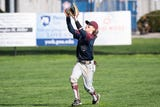With swift feet and bold instincts, junior Brevin Neveker is one of the most dangerous baserunners in the YAIAA, averaging more than one stolen base a game for New Oxford.