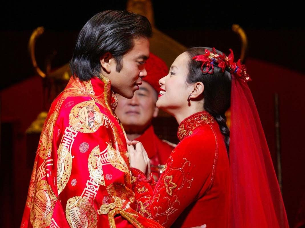 """Jose Llana and Lea Salonga star in """"Flower Drum Song,"""" which ran on Broadway from 2002 to 2003."""