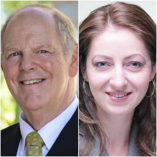 Candidates for U.S. House, District 1, in Arizona: U.S. Rep. Tom O'Halleran (left) and former Flagstaff City Council member Eva Putzova, both Democrats.