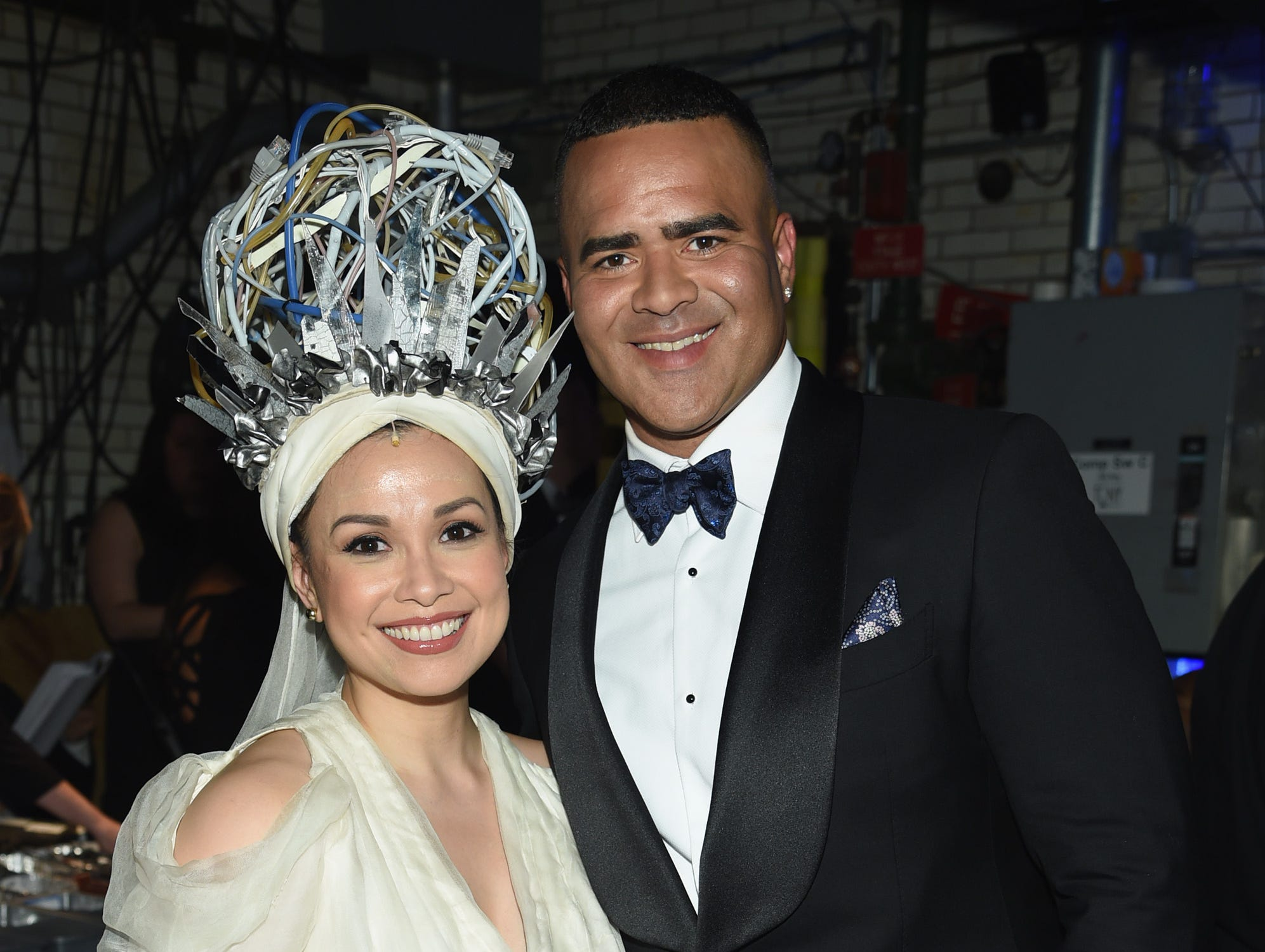 Lea Salonga and Christopher Jackson attend the 72nd Annual Tony Awards at Radio City Music Hall on June 10, 2018, in New York City.