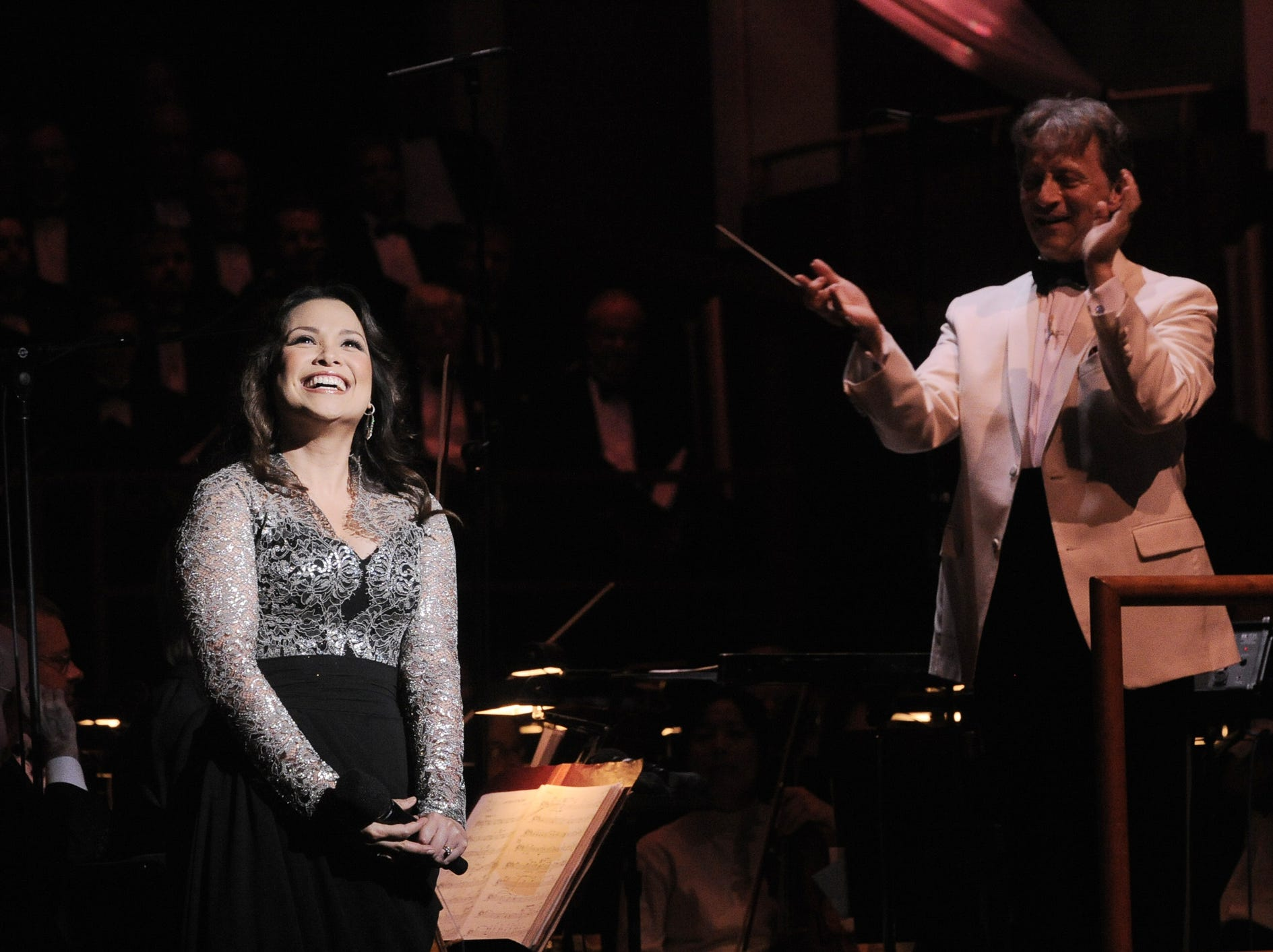 Lea Salonga acknowledges a standing ovation during a performance in Indianapolis in 2011.