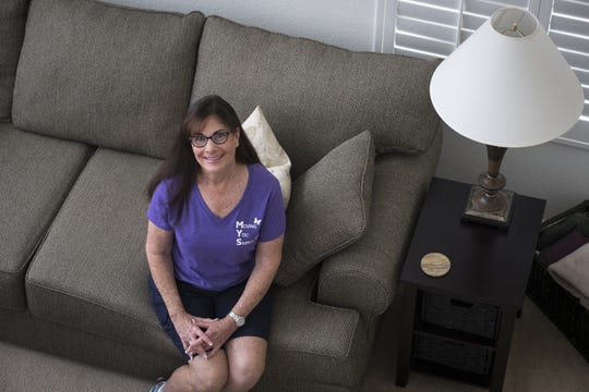 A portrait of Debbie Meyer of Moving You Simply taken April 17, 2019, in a home she moved from California to Scottsdale.