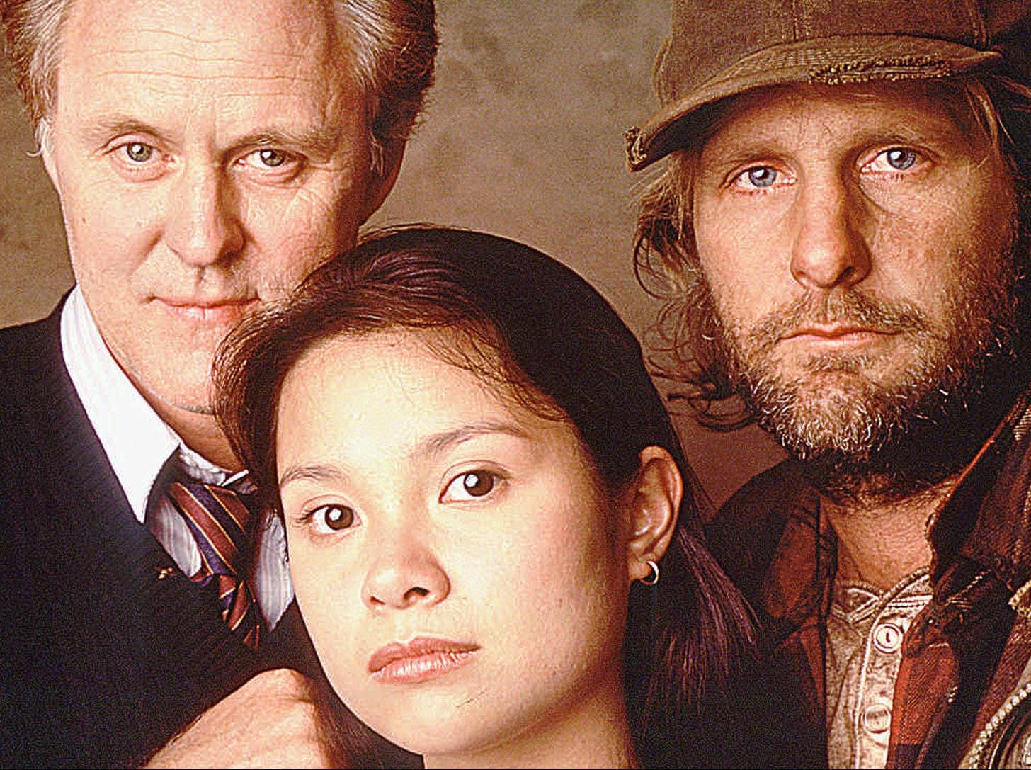"""Lea Salonga stars with John Lithgow (left) and Jeff Daniels in """"Redwood Curtain,"""" a TV movie which aired in 1995."""