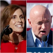 Arizona candidates for Senate: Republican Sen. Martha McSally (left) and Democrat Mark Kelly.