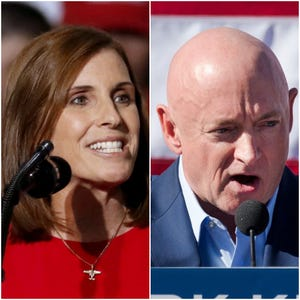 Arizona candidates for Senate: Republican Sen. Martha McSally and Democrat Mark Kelly.