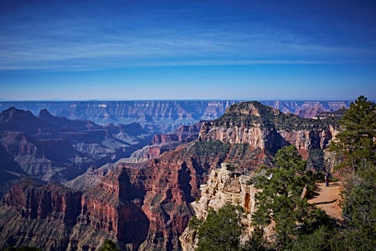 The view from the North Rim of the Grand Canyon offers a textured depth not found at the South Rim.