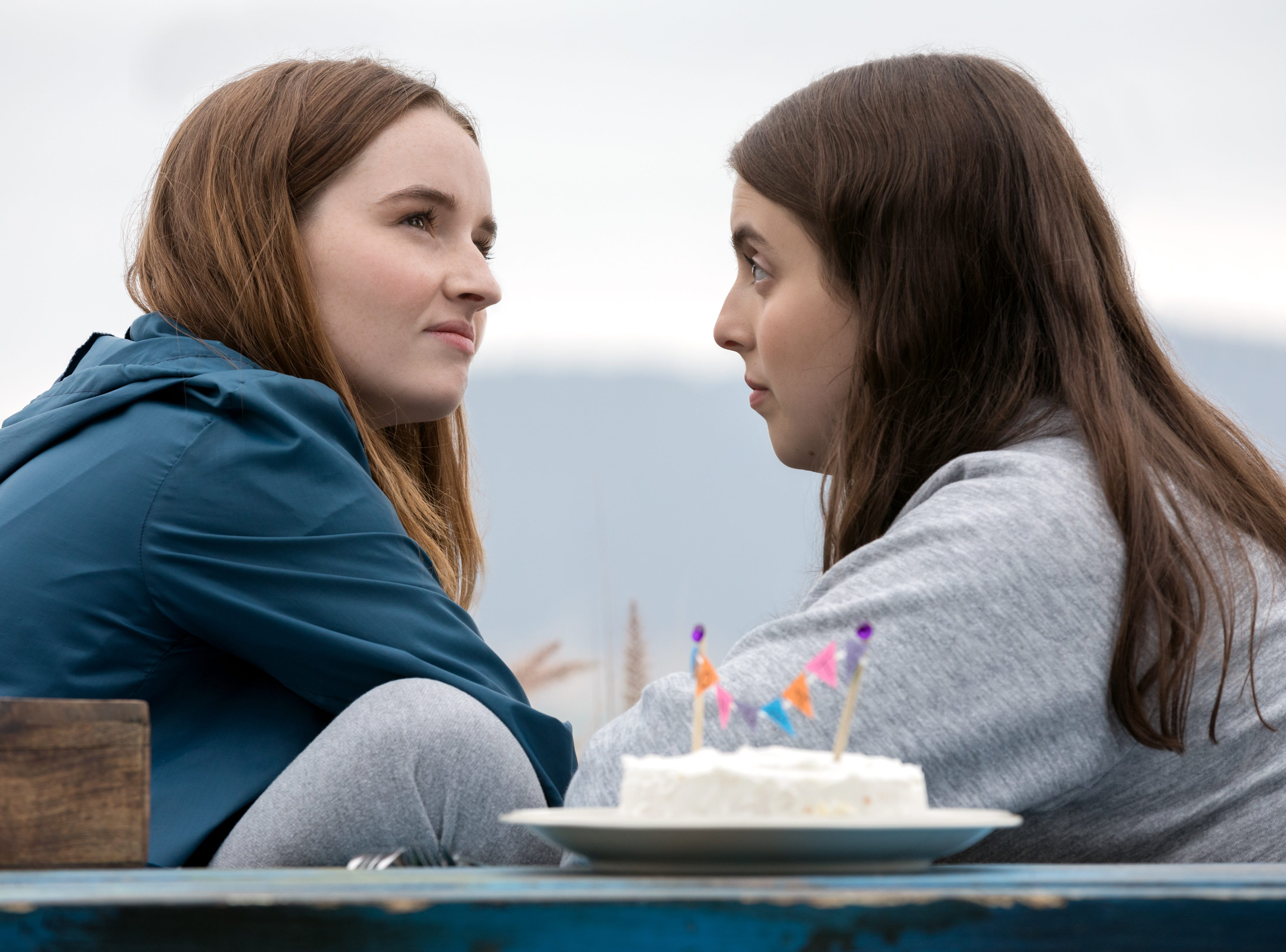 "Kaitlyn Dever stars as Amy and Beanie Feldstein as Molly in Olivia Wilde's directorial debut ""Booksmart."""