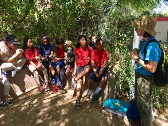 Summer Bell Brown's fifth-grade classmates on a field trip to Desert Botanical Garden on April 22, 2019.