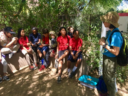 Summer Bell Brown's fifth-grade classmates on a field trip to Desert Botanical Garden on April 22, 2019.