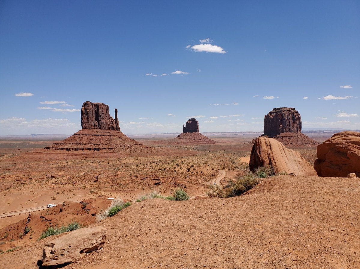 Photo taken from Monument Valley Navajo Tribal Park.