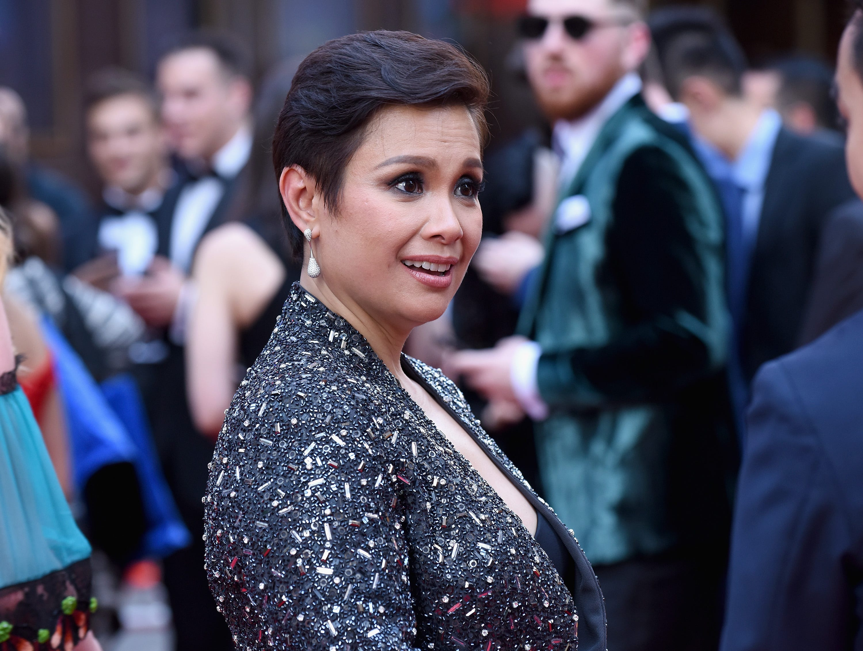 Lea Salonga hits the red carpet for the Tony Awards at Radio City Music Hall on June 11, 2017.